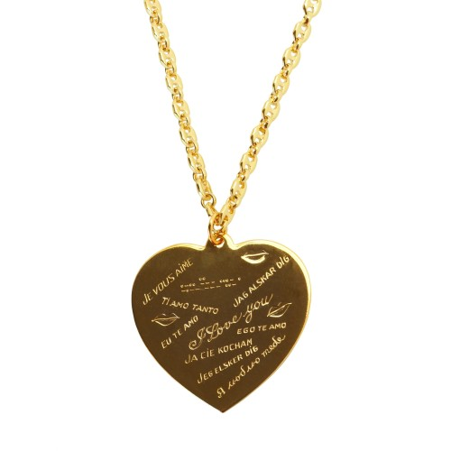 "Collar ""I love You"" bañado oro 18Kts"