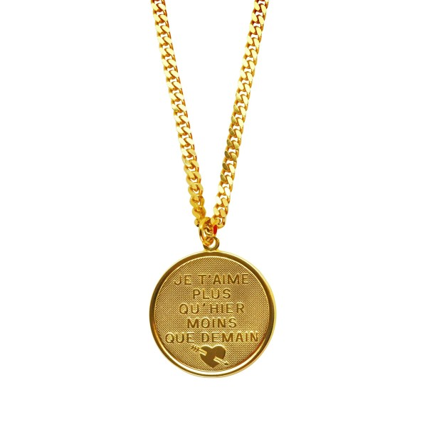 """Je t'aime"" coin Necklace"