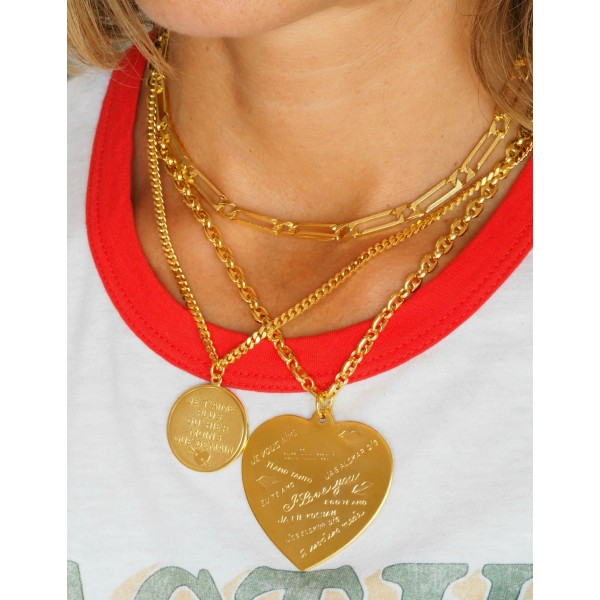 """Collar """"I love You"""" bañado oro 18Kts"""