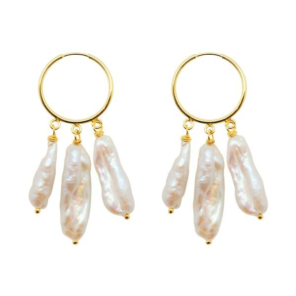 """""""My Favorite Pearls"""" hoop earrings"""