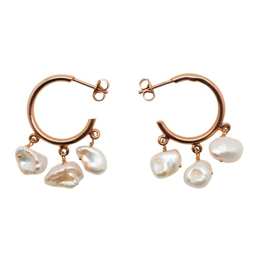 """My Favorite Pearls"" hoop earrings"