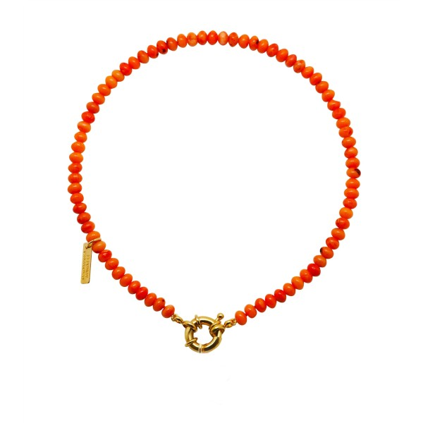 "Collar ""Coral Sunset"" sin inicial"