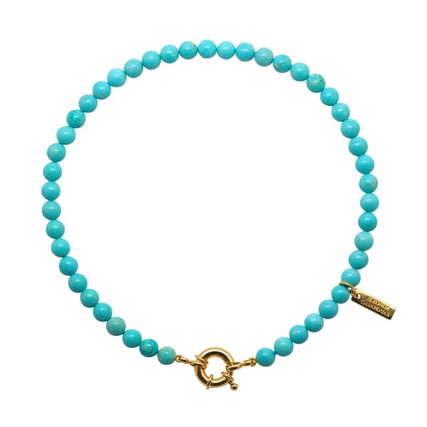 """Collar """"Turquoise Lovers"""" con o sin Inicial"""