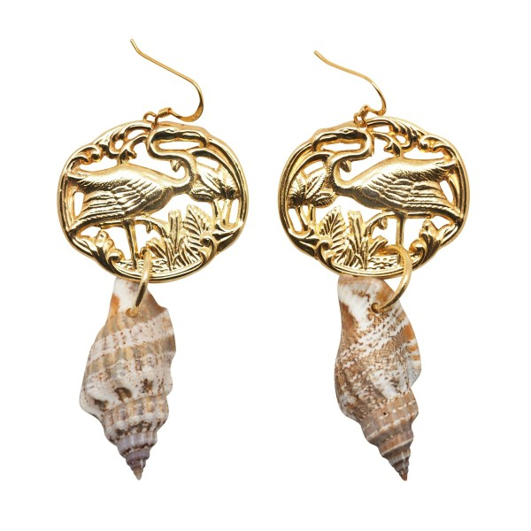 """Flamingos on the Beach"" Earrings"