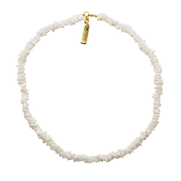 "Collar ""White Shell Silvia"""