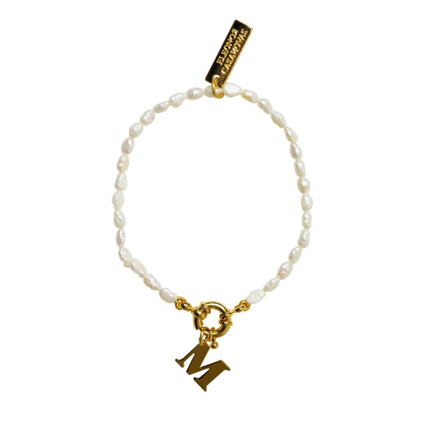 """Pulsera """"Basic Mini Pearls"""" con o sin Inicial"""