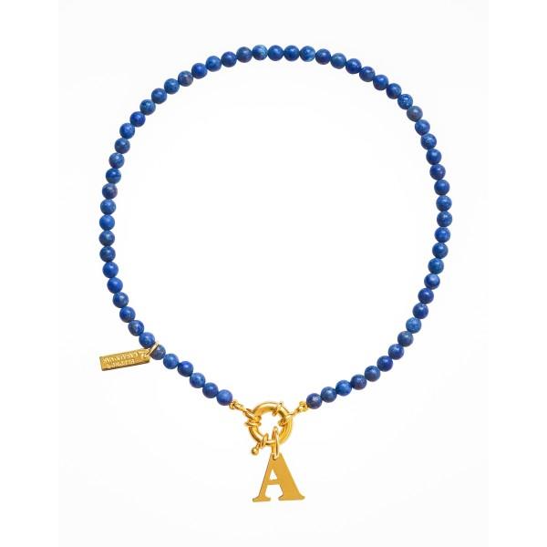 """Collar """"Deep Blue"""" con o sin Inicial"""