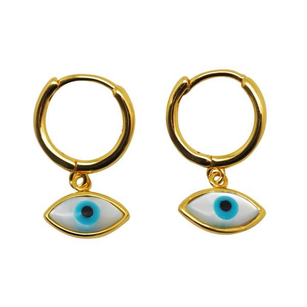 """""""Turkish Eye"""" Hoop earrings"""
