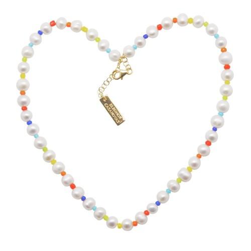 "Collar ""Rainbow of Pearls"""