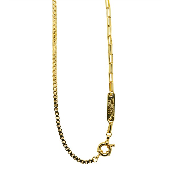 "Square ""Mixed Chains"" necklace"