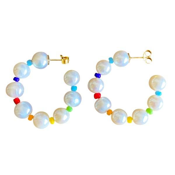 """Pendientes """"Rainbow of Pearls"""""""
