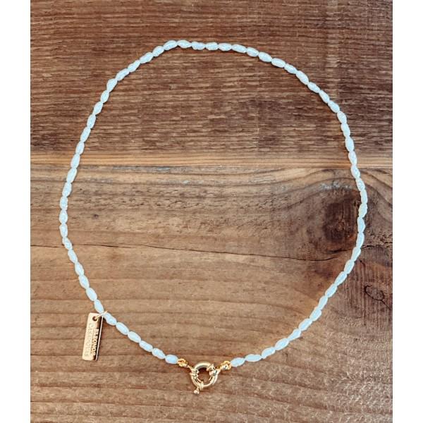 "Collar ""Basic Mini Pearls"" con reasa"