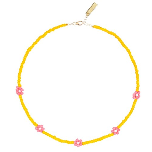 Aloha Necklace pink yellow