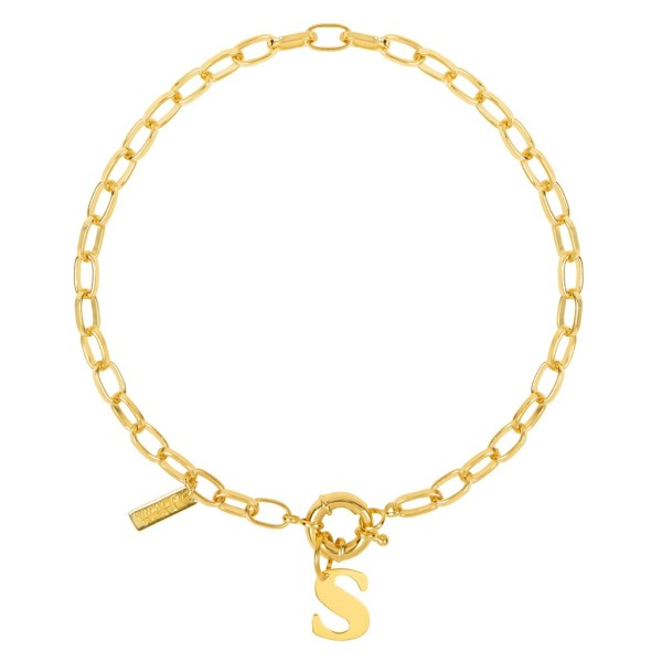 """""""Big Links"""" necklace with round clasp"""