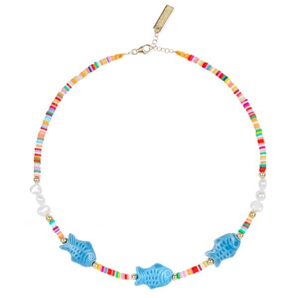 """Collar """"Ciao Bacalao"""" azul"""