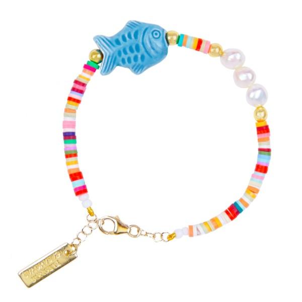 """""""Ciao Bacalao"""" bracelet-Blue"""