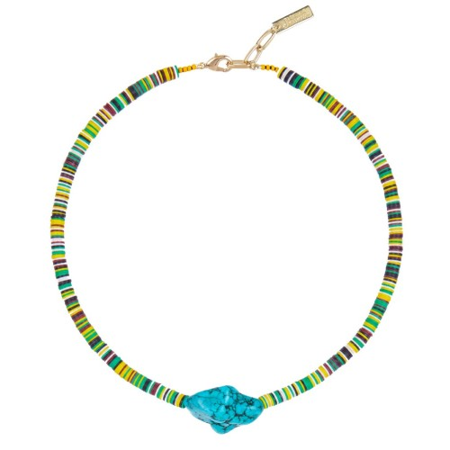 """Summer Vibes"" Necklace Blue"