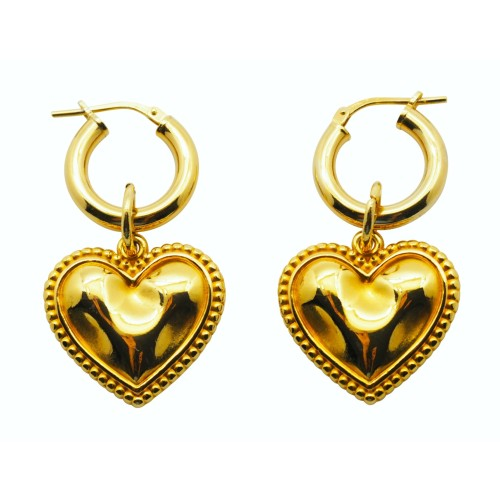 """CUORE"" hoop earrings"
