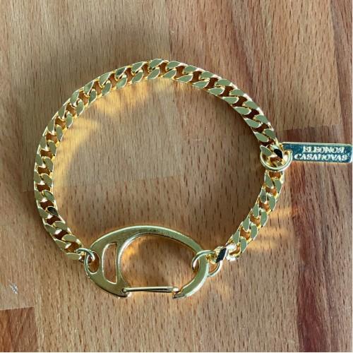Vintage chain with XL clasp bracelet