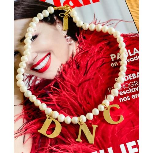 Collar perlas clásicas personalizable