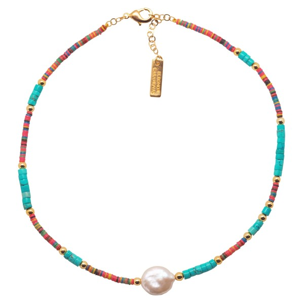 """""""Pink & Turquoise Vibes"""" Necklace"""