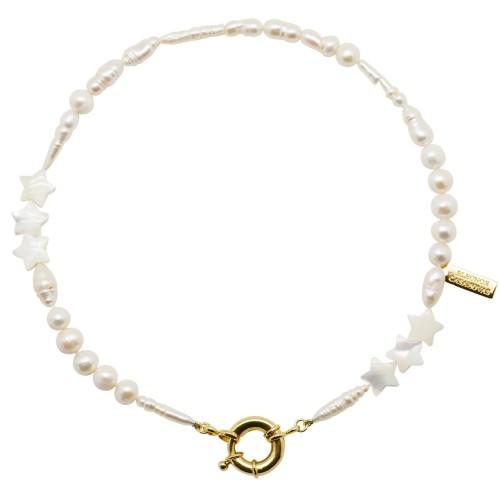 "Collar ""Stars & Pearls"""