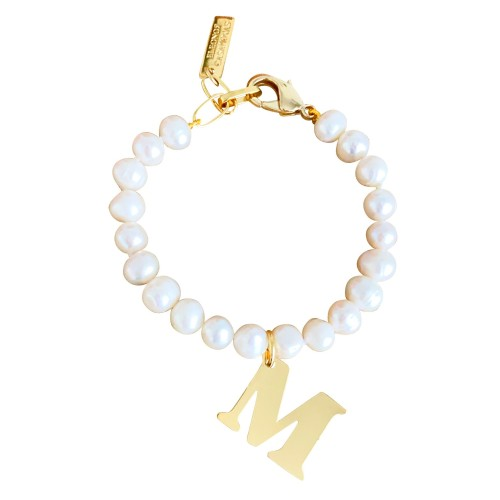 """""""Classic Pearls"""" Bracelet with or without Initial"""