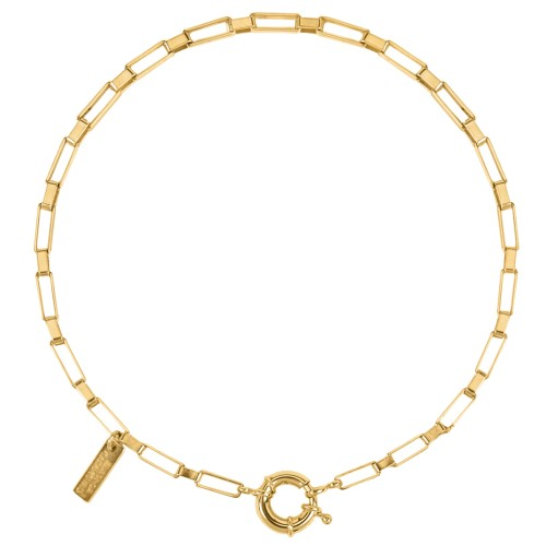 Square Links choker necklace