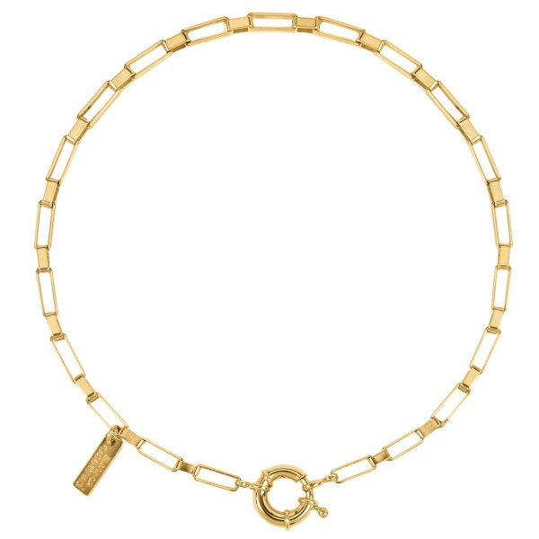 """""""Square Links"""" choker necklace"""