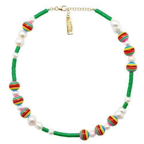 Green Bolas Rainbow Necklace