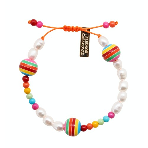 Perlas y Bolas Rainbow pulsera