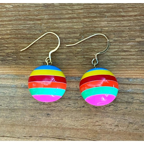 XL Rainbow Ball earring