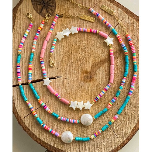 """Collar """"Pink & Turquoise Vibes"""""""