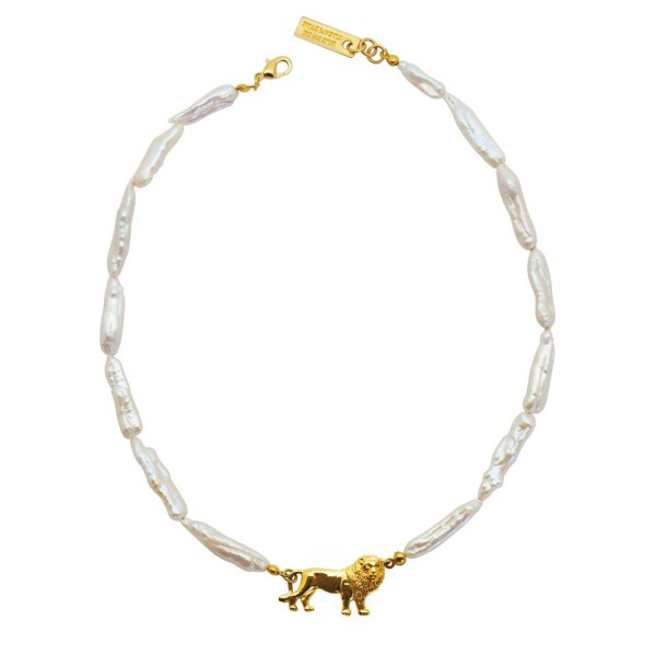 Mini Lion Freshwater Pearls Necklace