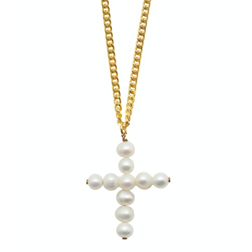 Cross Pearls Necklace