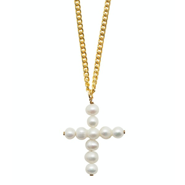 Pearls Cross Necklace