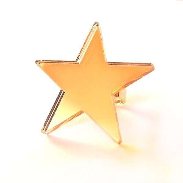 Anillo Estrella espejo oro
