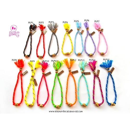 Summer Fluo Skull bracelets
