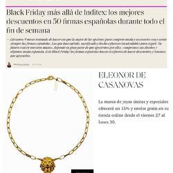 🖤 BLACK FRIDAY 🖤 Muchísimas gracias @elle_spain @paulallanos por incluirnos en vuestra selección 😊15% dto en toda la web y envíos gratis hasta el 30/11 con código BLACK15👉🏻www.eleonordecasanovas.com#thankyouelle#blackfridayishere