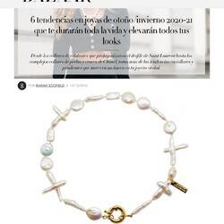Nuestro collar de perlas menos clásico en @harpersbazaares ♥️♥️♥️Muchísimas gracias por incluirnos en vuestra selección 🙏🏻#prensa#press#collarperlas#forpearllovers#availableonline